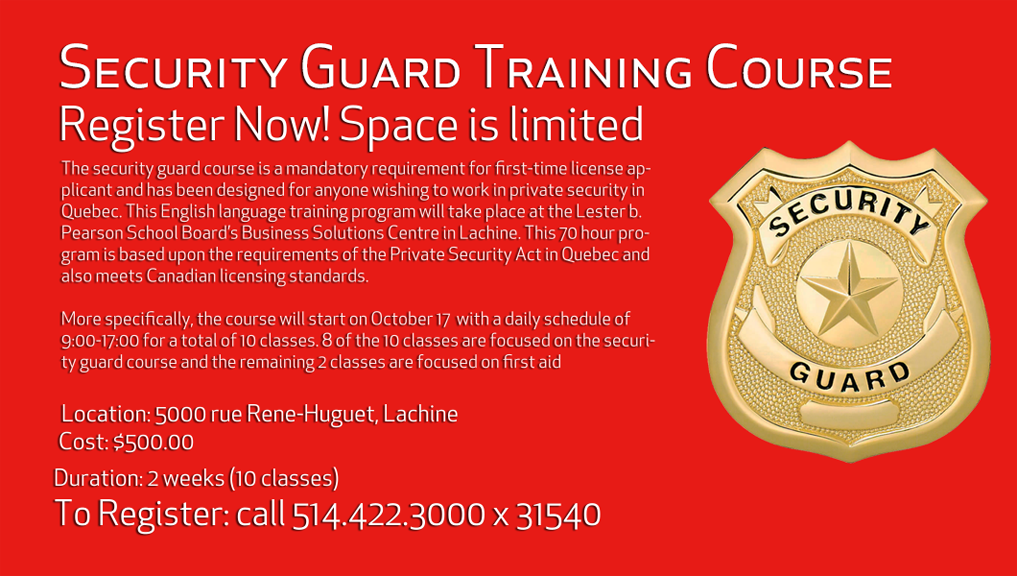 Our new security guard course launches soon