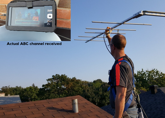PEC Student Successfully Tests Student-Built Television VHF Antenna