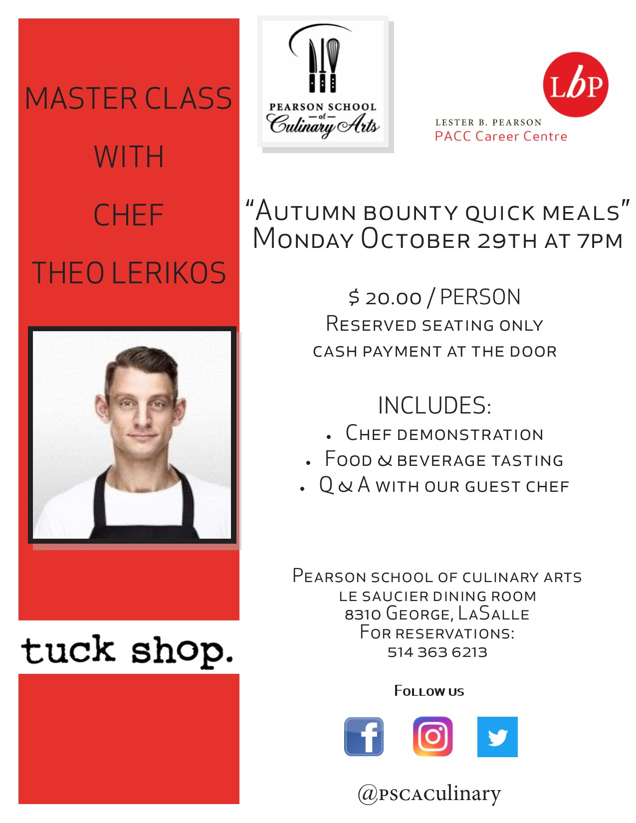 Master Class at Pearson School of Culinary Arts