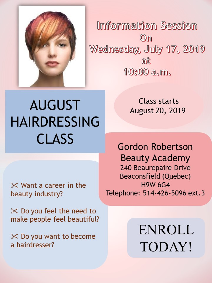 GRBA HAIRDRESSING INFORMATION SESSION