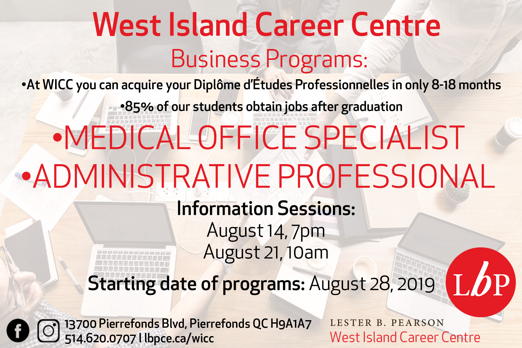 Lester B  Pearson Continuing Education > Our Centres > West